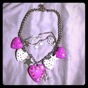 BETSEY JOHNSON VINTAGE SWEETIE PIE NECKLACE
